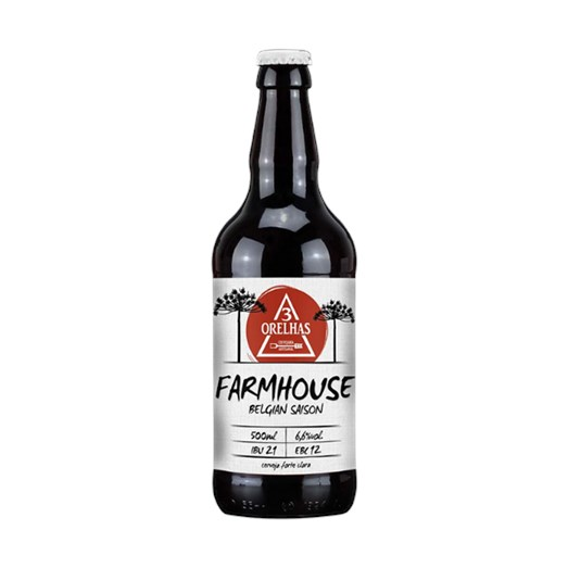 Cerveja 3 Orelhas Farmhouse Ale, 500ml