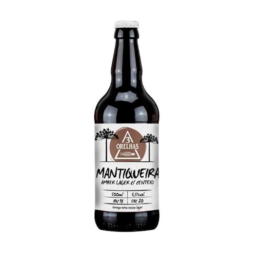 Cerveja 3 Orelhas Mantiqueira Lager, 500ml