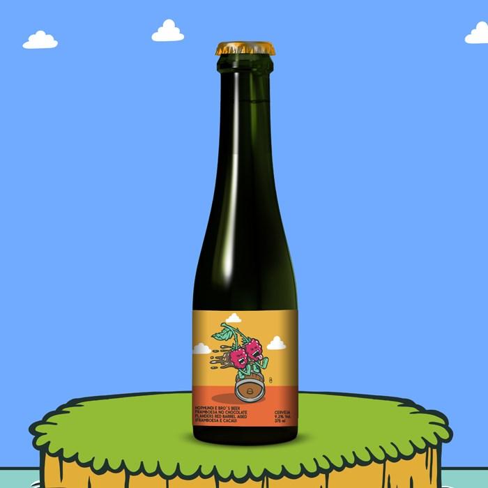 Cerveja HopMundi e Bro's Beer ChocoBerry Flanders, 375ml