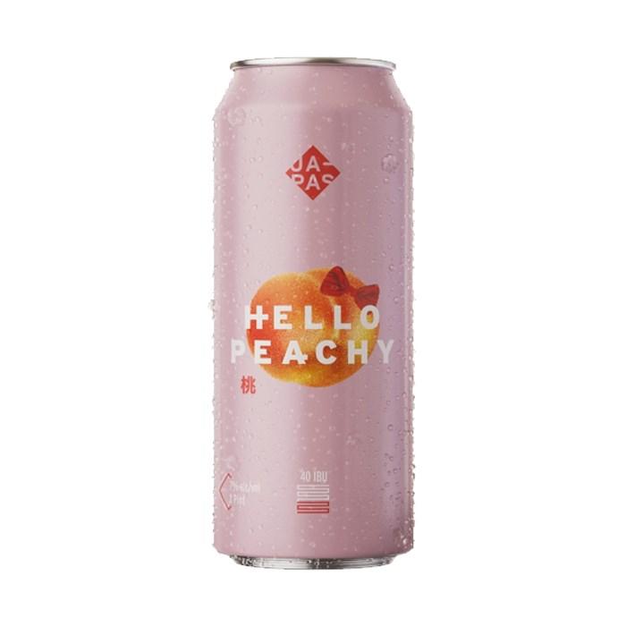 Cerveja Japas Hello Peachy, 473ml