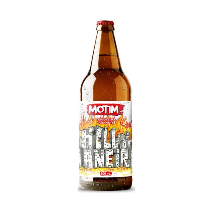 Cerveja O Motim Hell de Janeiro, 600ml (Hoppy Lager)