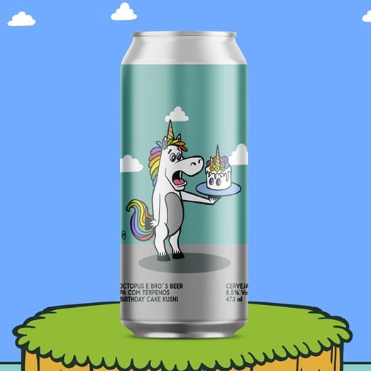 Cerveja Octopus e Bro's Beer Birthday IPA, 473ml