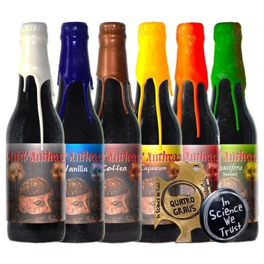Cerveja Quatro Graus Black Anthrax Safra 2019 + Brindes