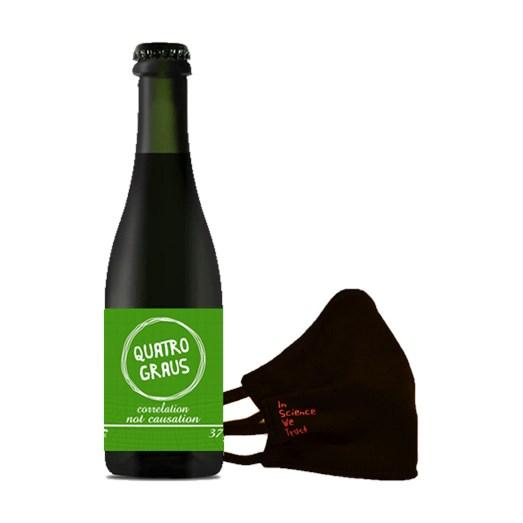 Cerveja Quatro Graus Correlation #4, 375ml + Máscara brinde + abridor