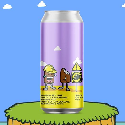 Cerveja Salvador e Bro's Beer Chocolate Marshmallow Merengue Stout, 473ml