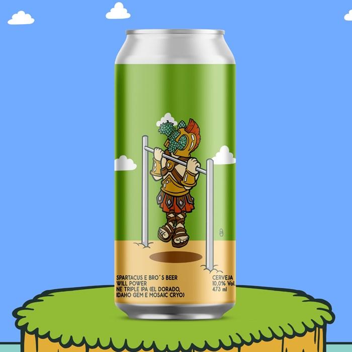 Cerveja Spartacus e Bro's Beer Will Power, 473ml
