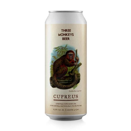 Cerveja Three Monkeys Cupreus, 473ml